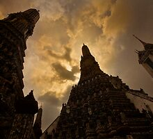 Wat Arun ~ Temple of Dawn by Chris Perry