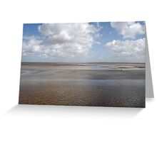The Severn estuary at low tide. Greeting Card