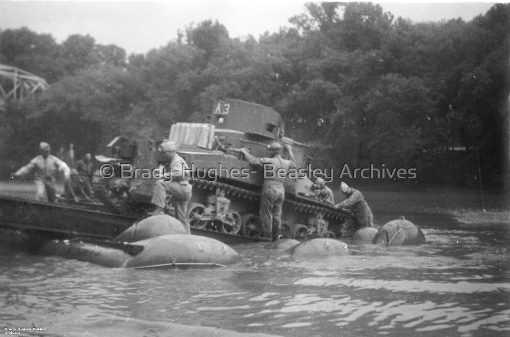 Floating a Tank by © Brady-Hughes- Beasley Archives