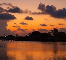 Cloud reflections on a copper sea by ♥⊱ B. Randi Bailey
