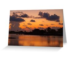 Cloud reflections on a copper sea Greeting Card