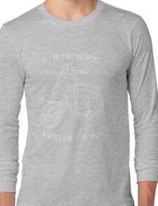 Downtown on a Moped Long Sleeve T-Shirt