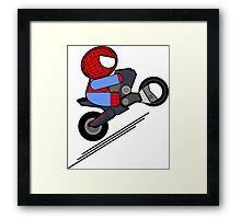 ITSY BITSY SPIDER BIKER Framed Print