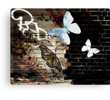 Metamorphose (Urban butterfly art) Canvas Print
