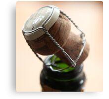 Champagne Cork Metal Print