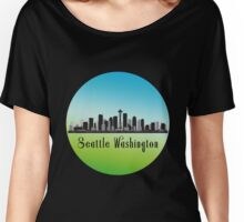 Seattle Washington Skyline Women's Relaxed Fit T-Shirt