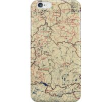 World War II Twelfth Army Group Situation Map June 16 1945 iPhone Case/Skin