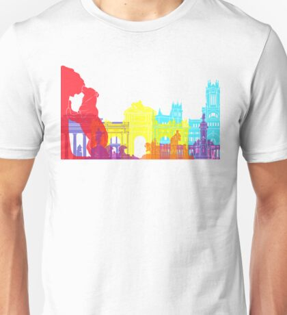 Madrid skyline pop Unisex T-Shirt