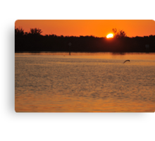 Sunrise from the Tip of Stump Pass, As Is Canvas Print