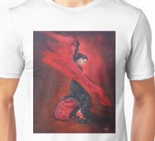 Flamenco in Red and Black Unisex T-Shirt
