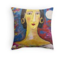 """Isabella with fruit""  Throw Pillow"