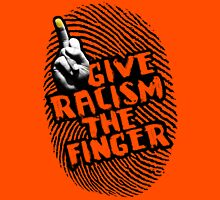 Give Racism The Finger - Red Womens Fitted T-Shirt