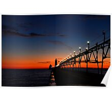 Sunset at the Grand Haven Pier 2 Poster