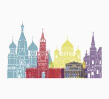 Moscow skyline pop Kids Clothes