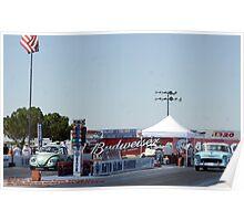 """Old School""; Fomoso Raceway, McFarland, CA Summit Series Racing Poster"