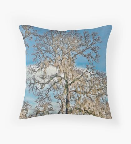 Ghostly Trees Throw Pillow