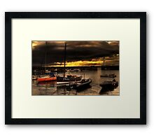 Storm Over Newhaven Framed Print