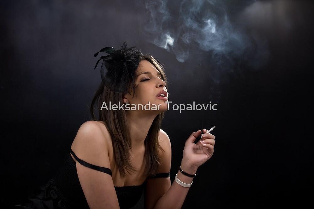 Narina lost in her taughts by Aleksandar Topalovic