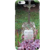 Grave with purple wildflowers iPhone Case/Skin