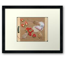 Strawberries and Cream Delight Framed Print