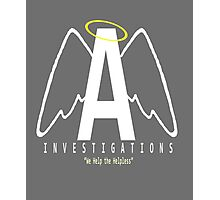 Angel Investigations Logo Photographic Print
