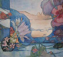 Ribbons through time 1 by Ellen Keagy