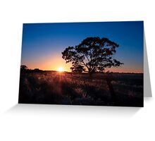 A Cloudless Dawn Greeting Card