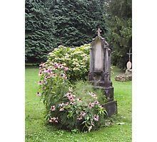 Flowered grave Photographic Print