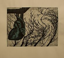 Blue Harvest- Color Intaglio Print by Amanda Heigel