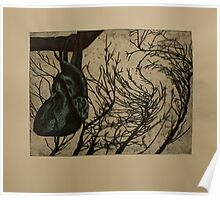 Blue Harvest- Color Intaglio Print Poster