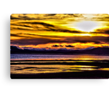 Mare Island Sunset 12 (HDR #2) Canvas Print