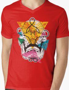 Geometry Skull Mens V-Neck T-Shirt