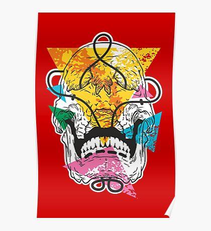 Geometry Skull Poster
