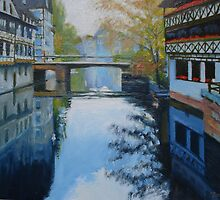 Strasbourg Canal at Dusk by Dai Wynn