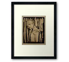 Destructive Behavior- Intaglio Print Framed Print