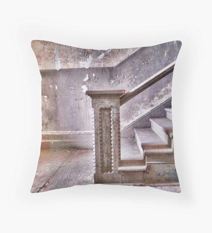 Alcatraz stairway Throw Pillow