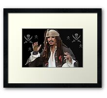 Pirate and Skulls Framed Print