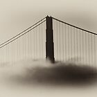 Golden Gate Bridge in Fog by vincefoto