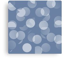 Blue and White Dots Canvas Print