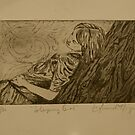 Sleeping Girl- Intaglio Print by Amanda Heigel