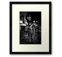 Reno Nevada at night Framed Print