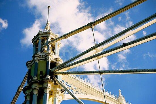 Albert Bridge - London, England by Rae Tucker