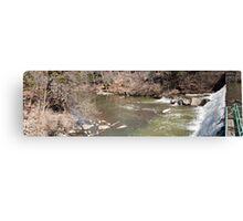 Panorama of Dam - Mill Creek Park Canvas Print