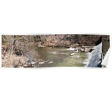 Panorama of Dam - Mill Creek Park Poster