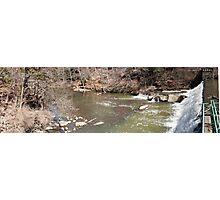 Panorama of Dam - Mill Creek Park Photographic Print