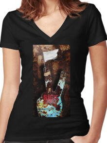 Winning in a very different way Women's Fitted V-Neck T-Shirt