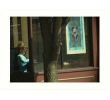 Child in the Window Art Print