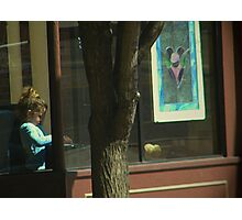 Child in the Window Photographic Print