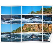 Waters flowing through Katherine Gorge  Poster