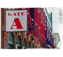 Gate A at Fenway Park Poster